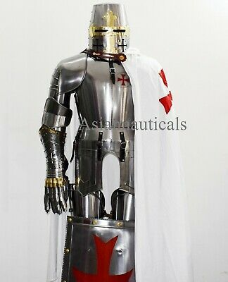 Templar Knight Suit of Armor Wearable Halloween Costume Larp/Reenactment #affili...