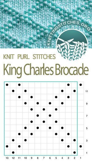 Knitting Stitch Patterns - King Charles Brocade Chart.