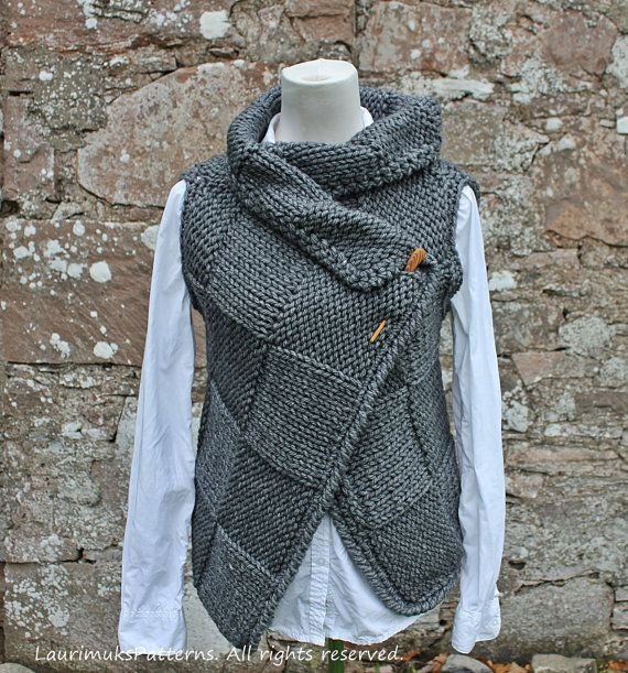 Knitting pattern  Big Square Wrap is full of sumptuous texture and cosy comfort....