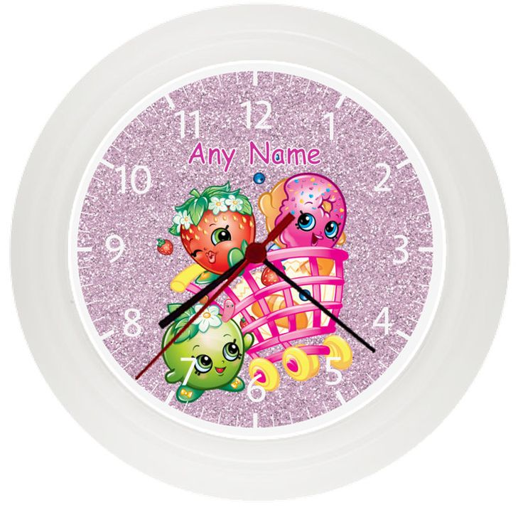 Personalised SHOPKINS wall clock* Childrens Bedroom* Gift* Girls by LittlePickle...