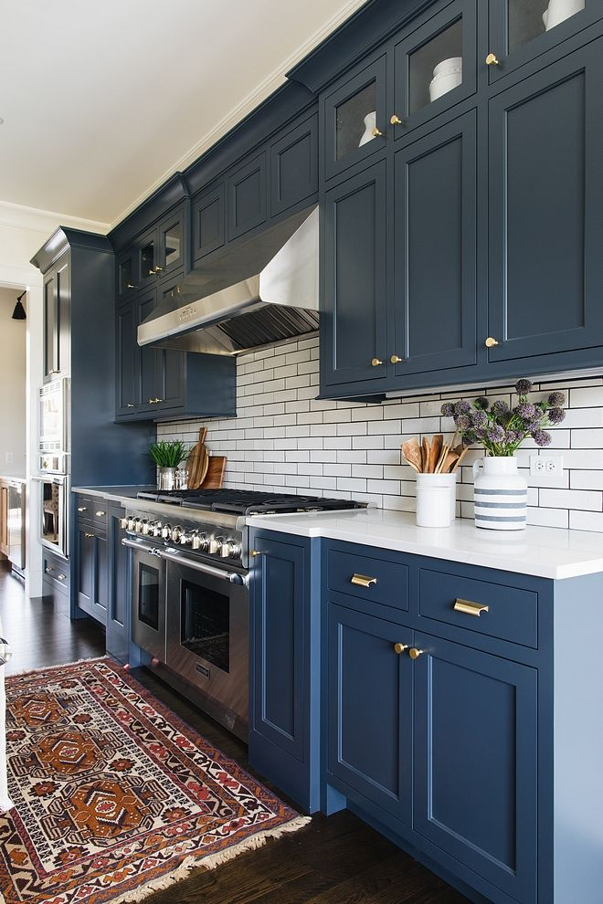 Blue Cabinets are Benjamin Moore Blue Note 2129-30