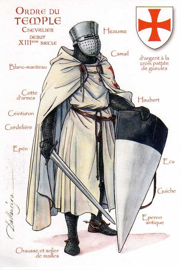 Knights Templar, knight with sword   by ourpostcards