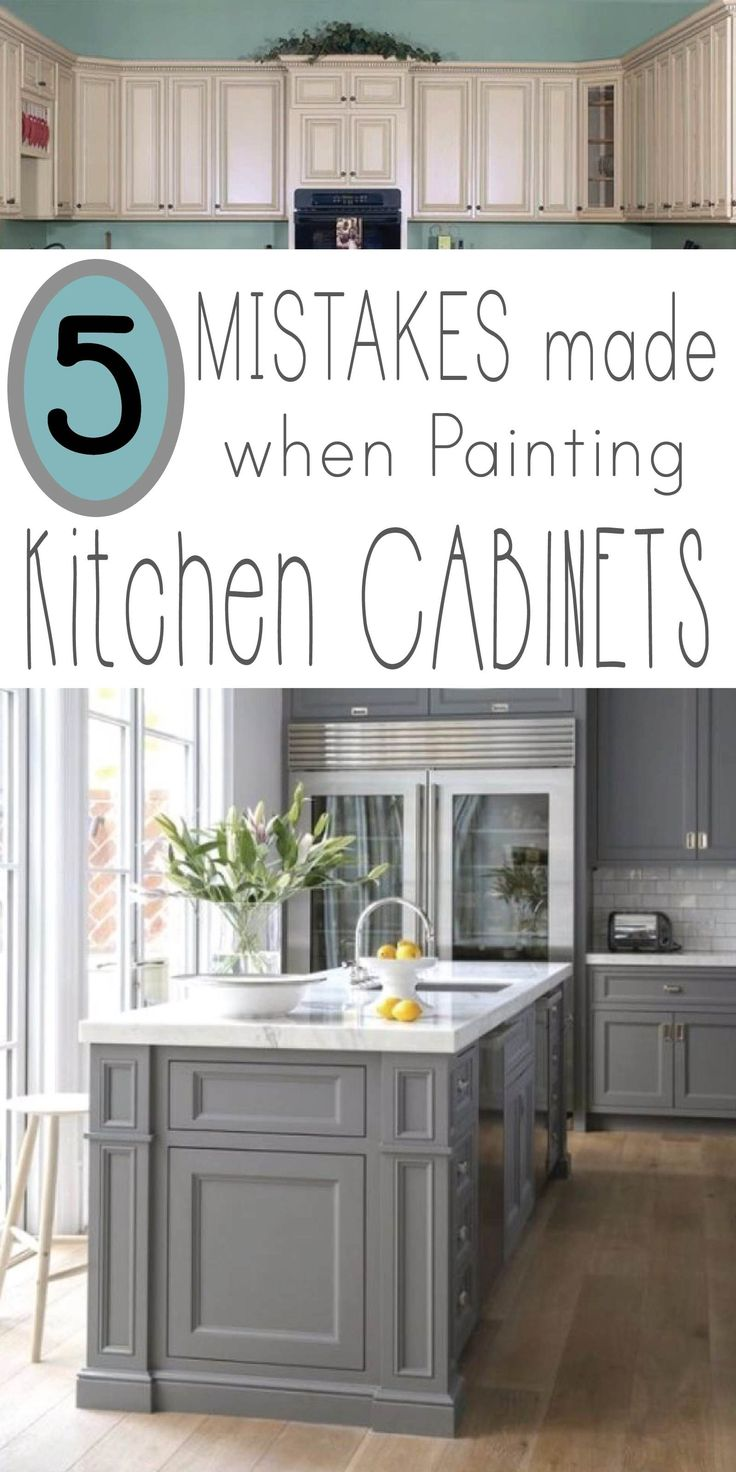 LEARN 5 Mistakes made when painting kitchen cabinets, so your makeover project i...