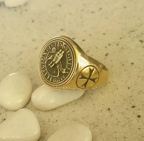 Seal of Templar Knights Order of Solomon's Temple Templar Ring Mascot of Tem...