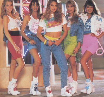In the 80s everyone rocked the high tops, scrunchy socks, spandex and cut off sh...