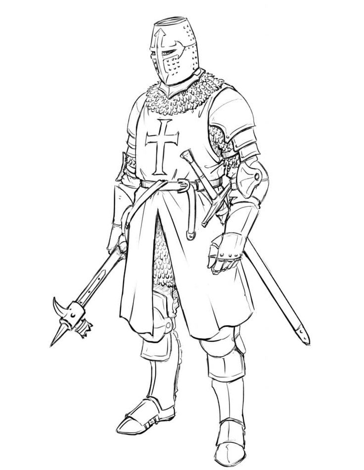 How to Draw a Templar Knight -Full Body - Improveyourdrawin...