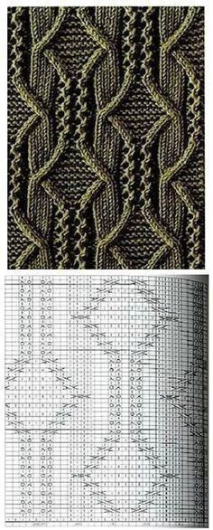 Knitted pattern with knitting font