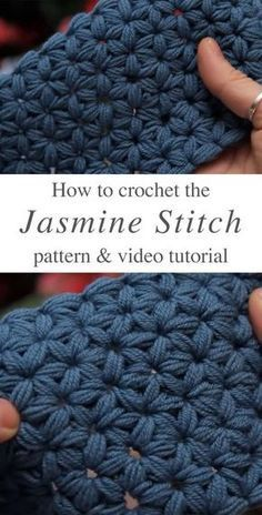 Jasmine Stitch Crochet Free Pattern Video Tutorial