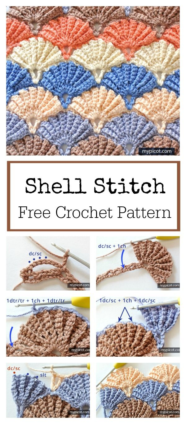 Beautiful Shell Stitch Free Crochet Pattern