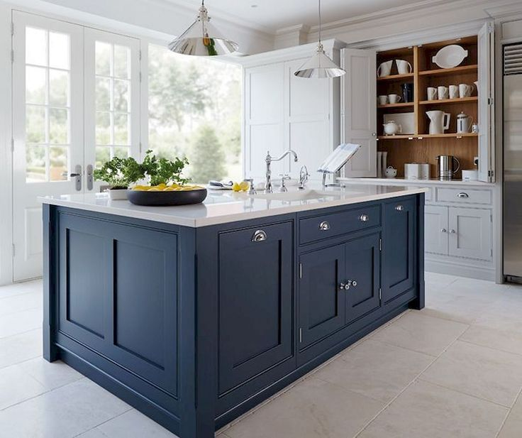 15 Impressive Blue Kitchen Paint Cabinet Design You Have To See