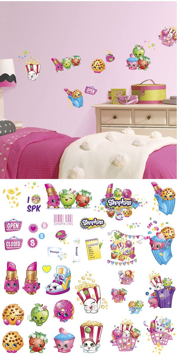 Shopkins Peel and Stick Wall Decals - Wall Sticker Outlet