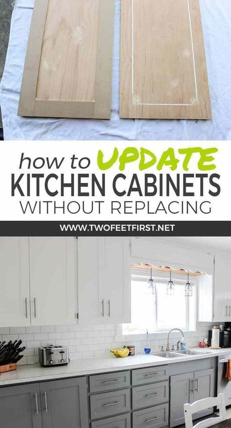 Want to update kitchen cabinet without replacing them. Learn how to update kitch...