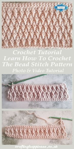 Crochet Tutorial: Learn How To Crochet The Alpine Stitch Pattern Photo & Video T...