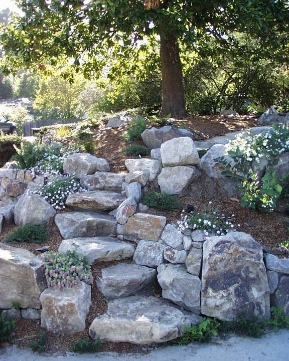 13 steps and path ideas for backyards with boulders # boulder stones # ...