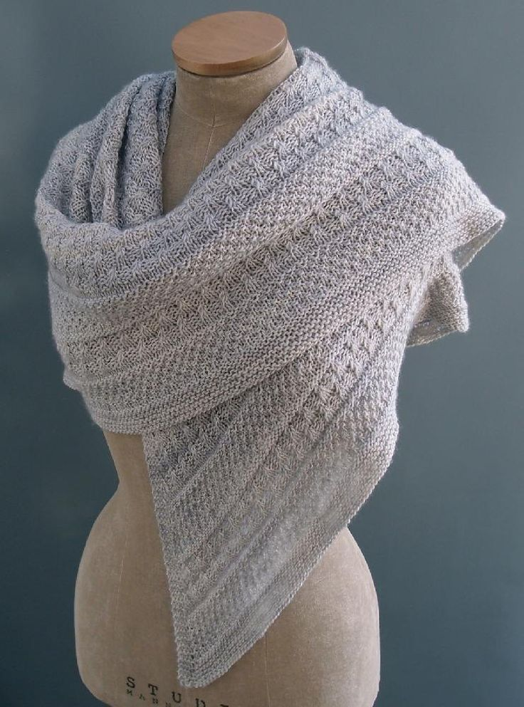This highly textured shawl was inspired by the many lichens and mosses that grow...