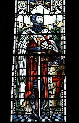 Knight Templar - stained glass by angelica