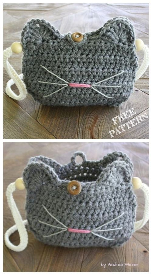 Crochet Cat Purse Free Crochet Patterns - #cat #Crochet #Free #Patterns #Purse