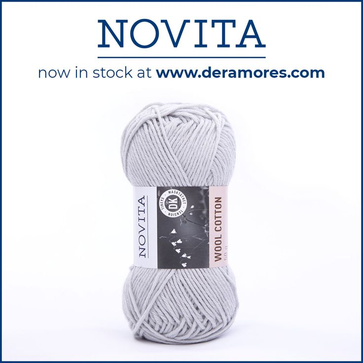 Novita Wool Cotton yarn contains 55% mulesing-free merino wool and 45% cotton. B...