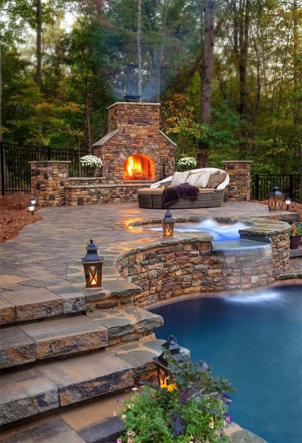 53 The most beautiful outdoor fireplace designs of all time #inspiration #eck #brunner #p ...