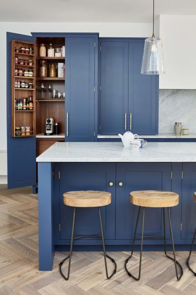 Adorable Blue Kitchen Design Ideas 10