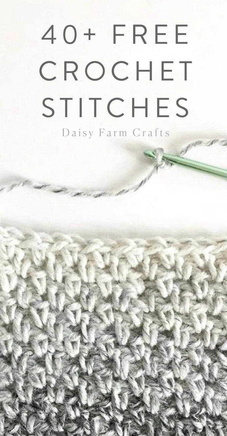 40+ Free Crochet Stitches from Daisy Farm Crafts