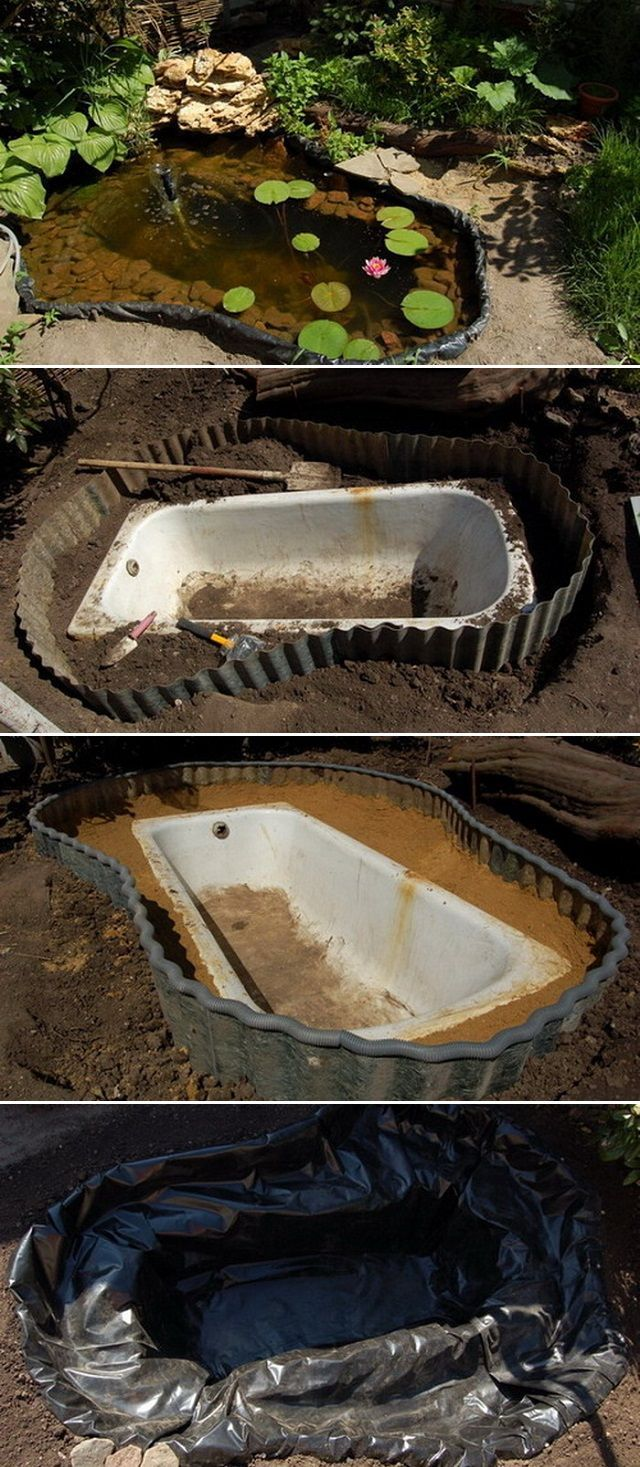 Simple DIY pond #folienteich #miniteich #pool #bachlauf # build