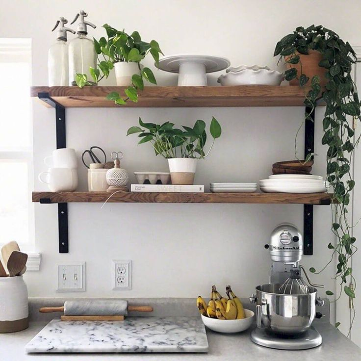 25 Fascinating wall shelves for the kitchen Ideas that offer more comfort #wall ...