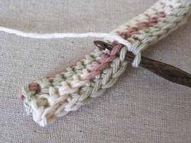 Hot pad stitch with great picture tutorial to go along with well written instruc...