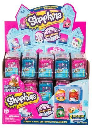 Shopkins Season 8 - World Vacation. What's Inside: 2 Shopkins 1 Twin Room1 C...