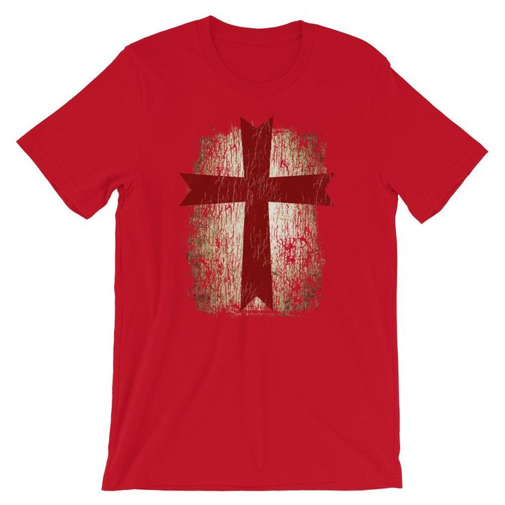 Knight Templar Cross TShirt | Templar Knight | Christian TShirt | Deus Vult | Cr...