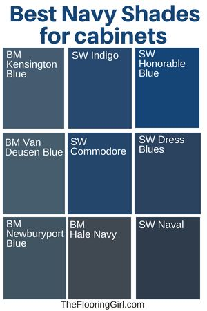 Best shades of navy for kitchen cabinets.  #navy #paint #color #kitchen #cabinet...