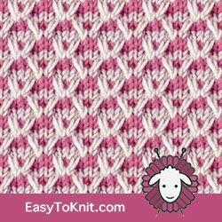 Textured Knitting 32: Slip Stitch Crosses - Easy To Knit