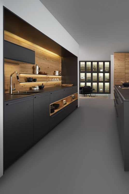 Luxury kitchen design for your home What about a black luxury kitchen? #egg...