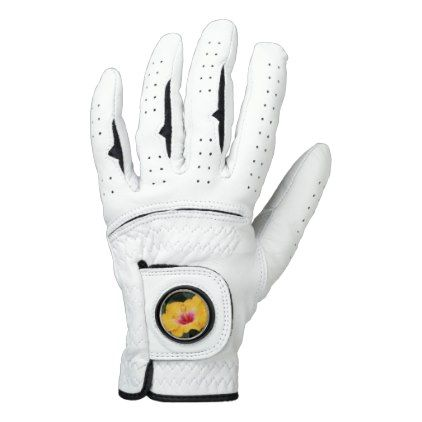 Yellow hibiscus golf glove - photography picture cyo special diy