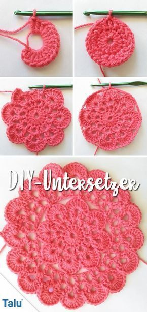 Free Instructions - crochet coasters - Talu.de