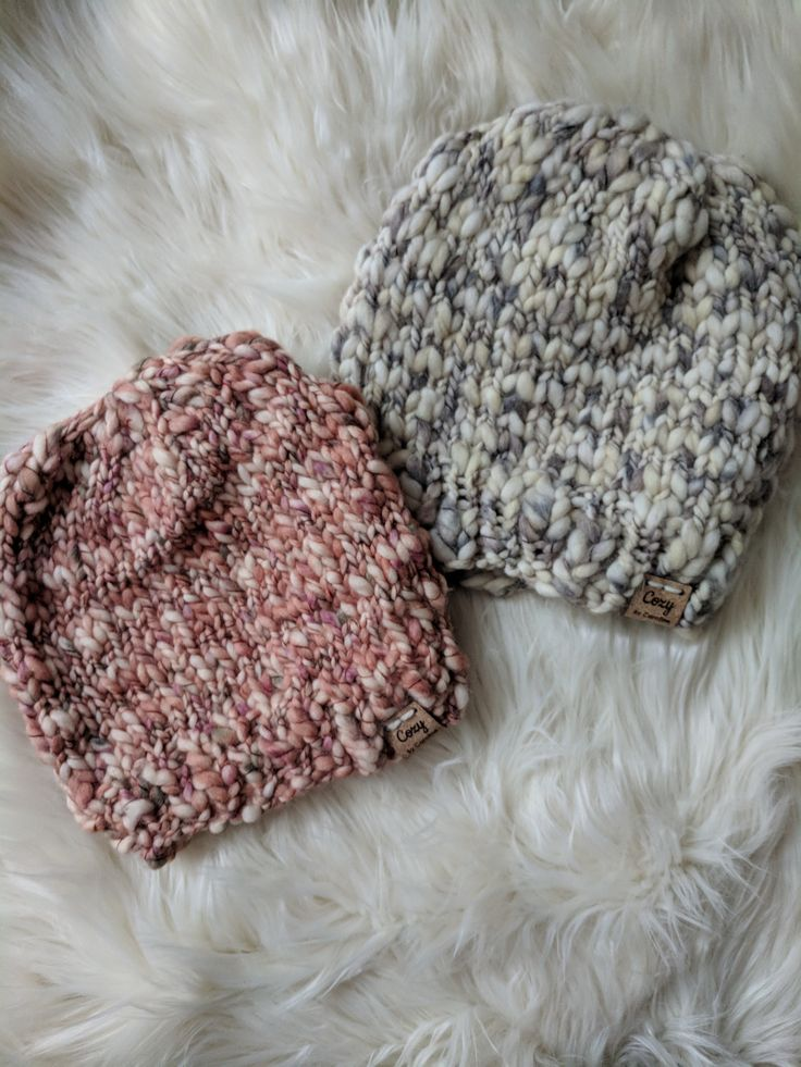 Buttercream Thick and Thin Yarn, Knitting Pattern, Simple Hat Knitting Pattern, ...