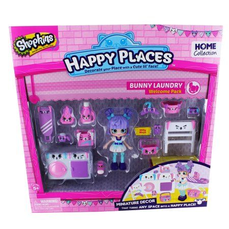 Free Shipping. Buy Happy Places Shopkins Season 2 Welcome Pack - Bunny Laundry a...