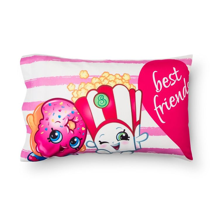 Best Friends Pillowcase (Standard) Pink - Shopkins