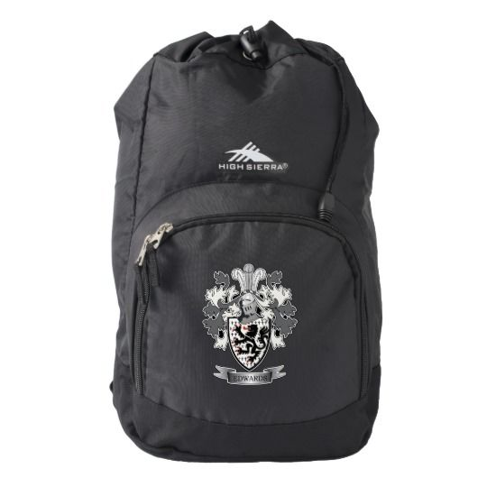 Edwards Family Crest Coat of Arms High Sierra Backpack