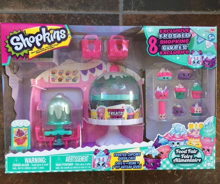Shopkins Season 5 Frosted Cupcake Queen Cafe With 8 Exclusive Frosted Shopkins |...