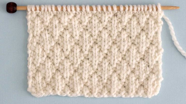 The Seersucker Stitch Knitting Pattern creates textured rows of raised puckered ...