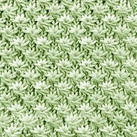 Textured Knitting 30: Daisy Flower, free knitting stitch pattern. The stitch can...