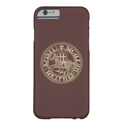 Crusader Templar Knights Seal logo Deus Vult gold Barely There iPhone 6 Case - g...