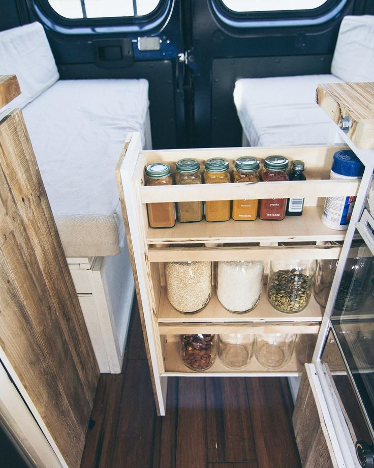 Van Life Storage and Organization Ideas - #Ideas #kitchen #Life #Organization #S...