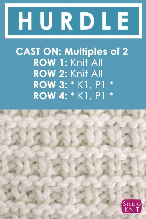 Knitting Instructions How to Knit the Hurdle Stitch with Free Written Pattern an...
