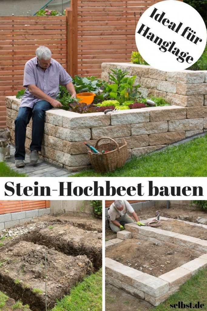 Put on your own harvest instead of supermarket - with this self-built stone ho ...