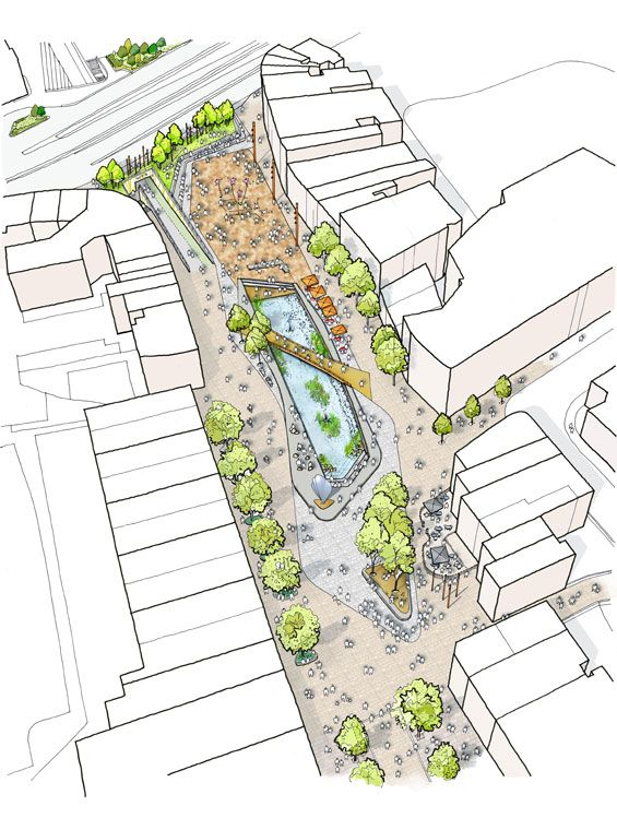 Public Realm Scheme Underway in Watford « World Landscape Architecture – land...