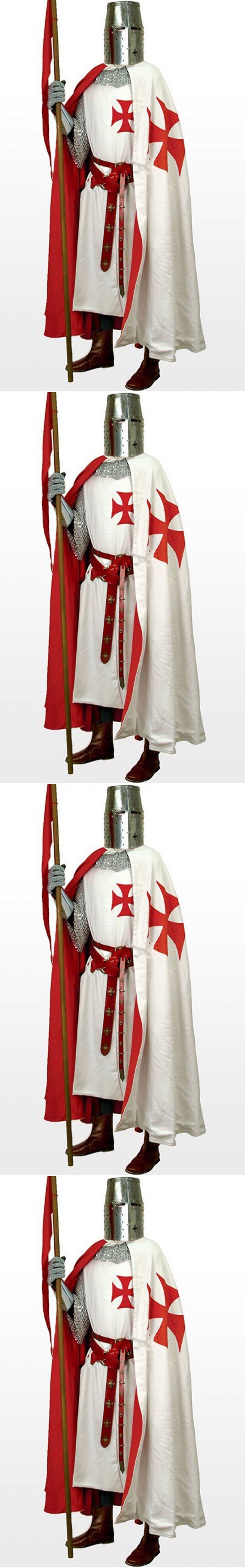 Medieval and Renaissance 125473: Medieval Templar Knight Crusader Tunic White Su...