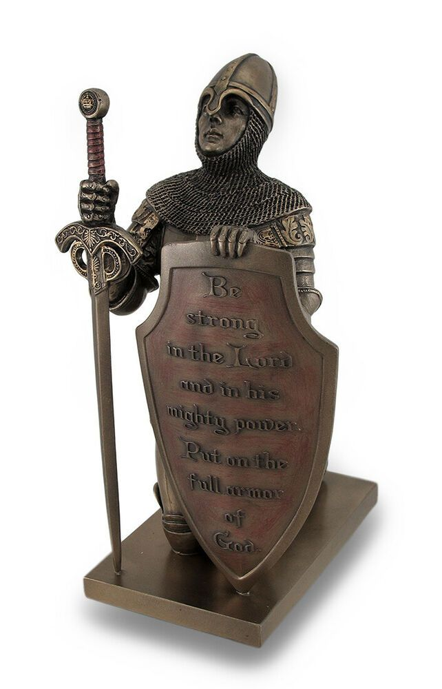 Templar Knight Be Strong In The Lord Bronze Finish Statue #fashion #home #garden...