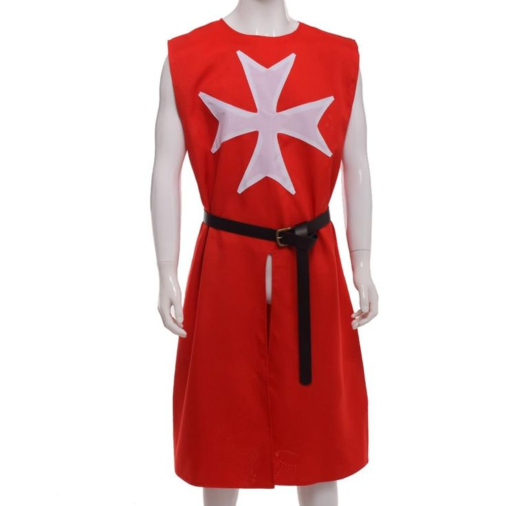 Red MEDIEVAL WARRIOR Cosplay Costume TEMPLAR KNIGHT Cloak Robe. Yesterday's pric...